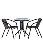 Набор мебели садовой, 1 стол (60*60*70 см) 2 кресла (50*50*70 см)