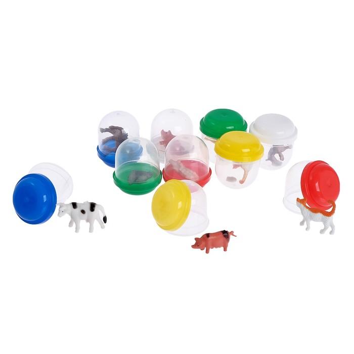 Набор игрушек в яйце «Ферма», набор из 10 яиц, 28 мм