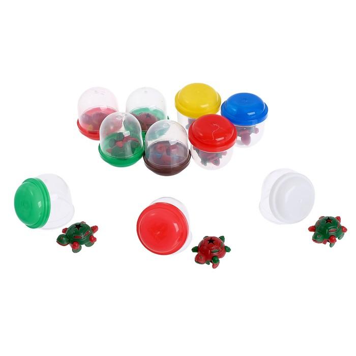 Набор игрушек в яйце «Черепахи», набор из 10 яиц, 28 мм