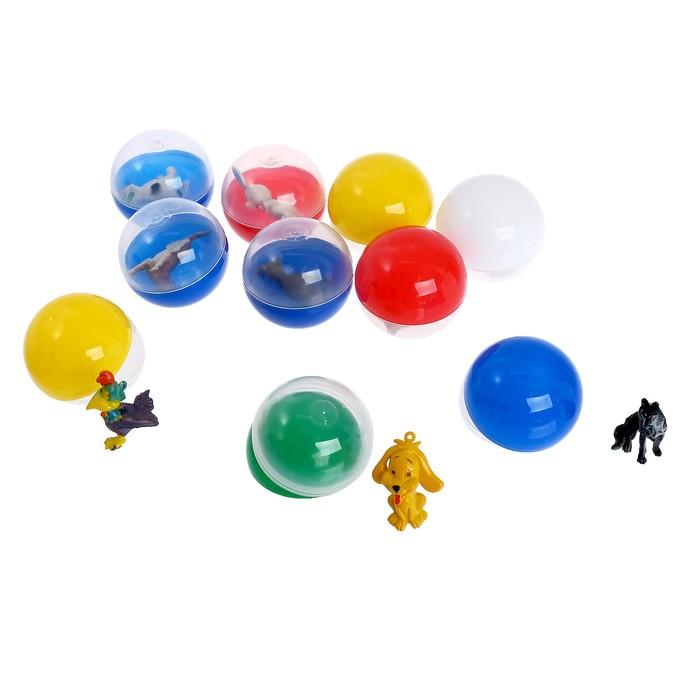 Набор игрушек в яйце «Звери», набор из 10 яиц, 53 мм