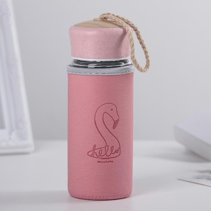"Бутылка 300 мл ""Привет фламинго"""