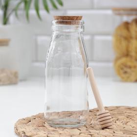Ёмкость для мёда «Парфе», 250 мл, 7×11,5 см, с ложкой в Донецке