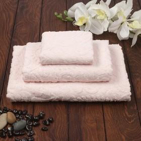 Полотенце махровое Sal 30х50 см, пудра, хлопок 100%, 380 г/м