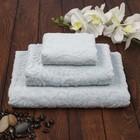Полотенце махровое Sal 30х50 см, васильковый, хлопок 100%, 380 г/м