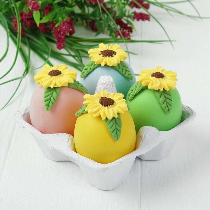Яйца для декорирования «Подсолнухи», набор 4 шт, размер 1 шт: 6×4 см