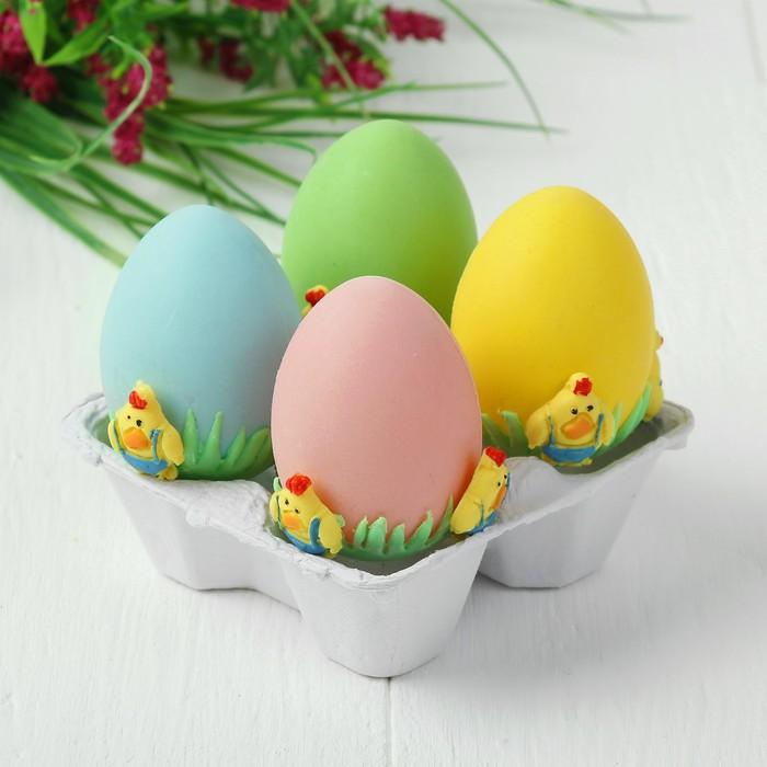 Яйца для декорирования «Петушки», набор 4 шт, размер 1 шт: 6×4 см