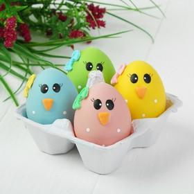 Яйца для декорирования «Глазастики», набор 4 шт, размер 1 шт: 5×4 см
