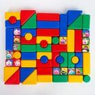 """Набор цветных кубиков, """"Смешарики"""", 60 элементов, кубик 4 х 4 см - фото 107062334"""