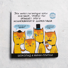 Шоколад в открытке «Интеллигентные коты», 4 шт, 20 г
