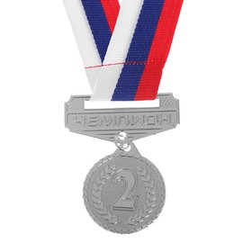 The medal prize with the socket 158, diameter 3.2 cm 2. The color is gray