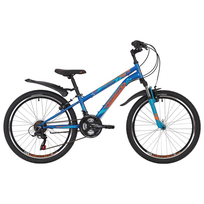 """Велосипед 24"""" Novatrack Action, 2019, 18ск., цвет синий, размер 12"""""""