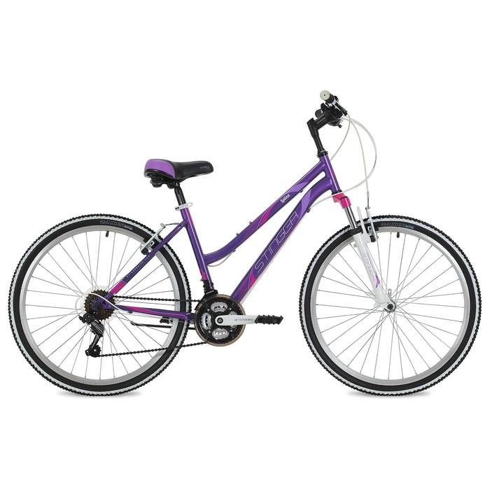 """Велосипед 26"""" Stinger Latina, 2018, цвет фиолетовый, размер 15"""""""