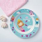 Набор детской посуды «Принцесса»: кружка 250 мл, тарелка Ø 17 см, полотенце 15 × 15 см - фото 105459332