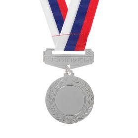 Медаль под нанесение с колодкой 148 диам 4,5 см. Цвет сер