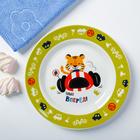 Набор детской посуды «Гонщик»: кружка 250 мл, тарелка Ø 17 см, полотенце 15 × 15 см - фото 105459432