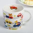Набор детской посуды «Гонщик»: кружка 250 мл, тарелка Ø 17 см, полотенце 15 × 15 см - фото 105459433