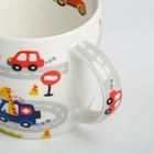 Набор детской посуды «Гонщик»: кружка 250 мл, тарелка Ø 17 см, полотенце 15 × 15 см - фото 105459434
