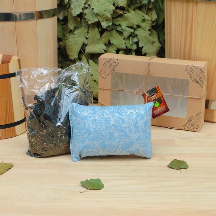 Подарочный набор «Добропаровъ», 2 предмета: Иван-чай с мелиссой, фитоподушка