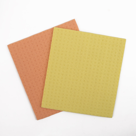 Салфетки для влажной уборки губчатые 15×17 см, целлюлоза, 2 шт