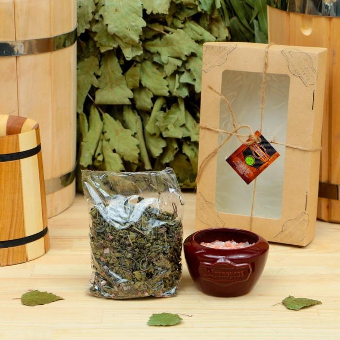 """Подарочный набор «Добропаровъ», 2 предмета: """"Калмыцкий чай"""", испаритель с гималайской солью   418038"""