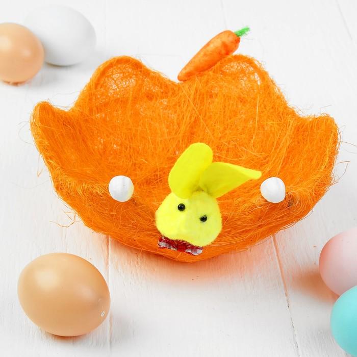 Корзинка для пасхальных яиц «Зайка», цвета МИКС