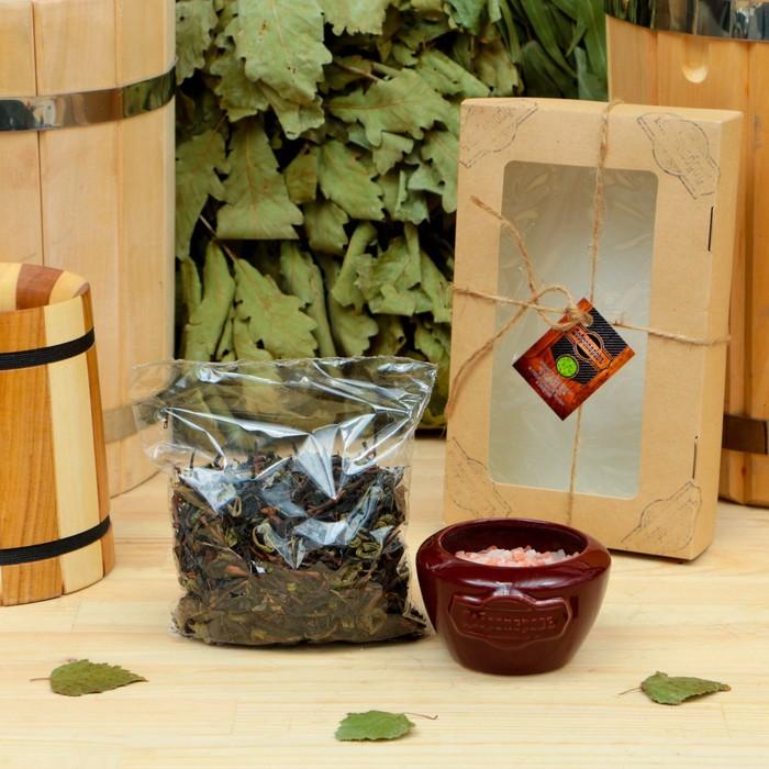 """Подарочный набор «Добропаровъ», 2 предмета: """"Походный чай"""", испаритель с гималайской солью"""