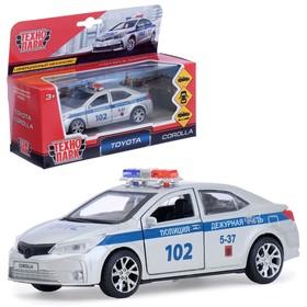 Машина металлическая «Toyota corolla полиция» 12см, открываются двери, инерционная