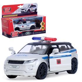 Машина металлическая «Land rover range evoque полиция» 12, 5 см открываются двери, инерционная