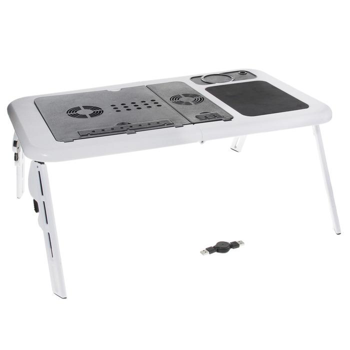 Стол для охлаждения ноутбука LD09, 56*32*4, 2 кулера, USB,