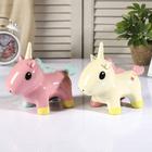 "Piggy Bank ceramic ""Unicorn with cute eyes"" MIX 14х17х7 cm"
