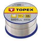 Припой оловянный TOPEX 44E524, 60% олово, 40% свинец, проволока 1.5 мм, 100 г