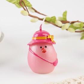 Свеча пасхальная «Курочка в шляпке», 4 х 6 см