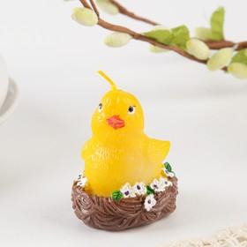 Свеча пасхальная «Цыпленок в гнезде», 4,5 х 5,5 см