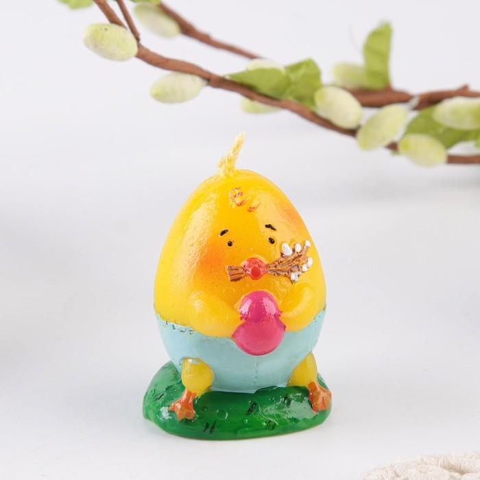 Свеча пасхальная «Цыплёнок с вербой»