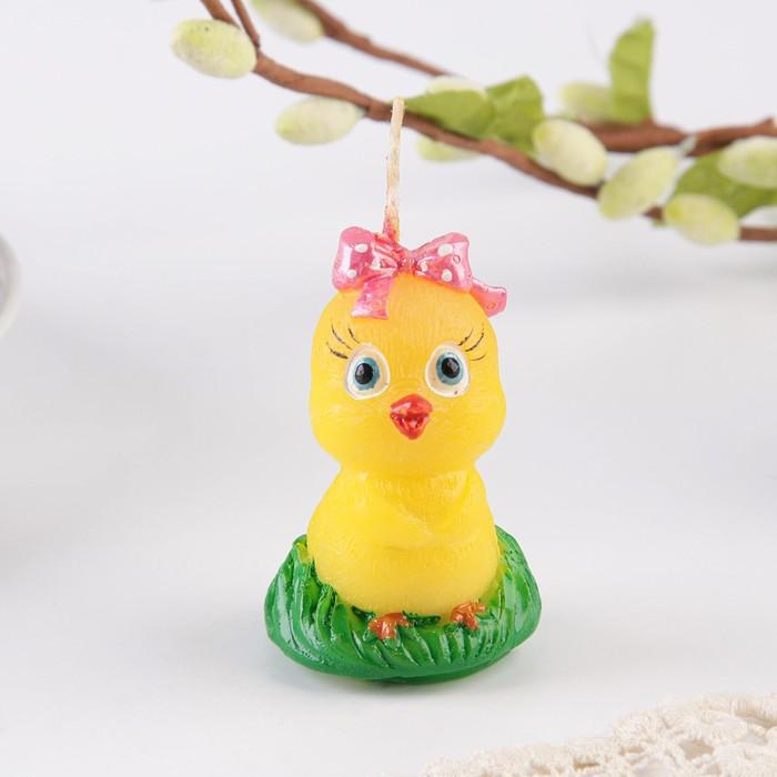Свеча пасхальная «Цыплёнок с бантиком»