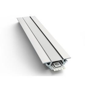Профиль алюминиевый угловой накладной 08-03-01, для светодиодной ленты, без рассеивателя, 2м
