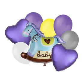 "A bouquet of balloons ""Horse"", latex, foil, set of 9 PCs"