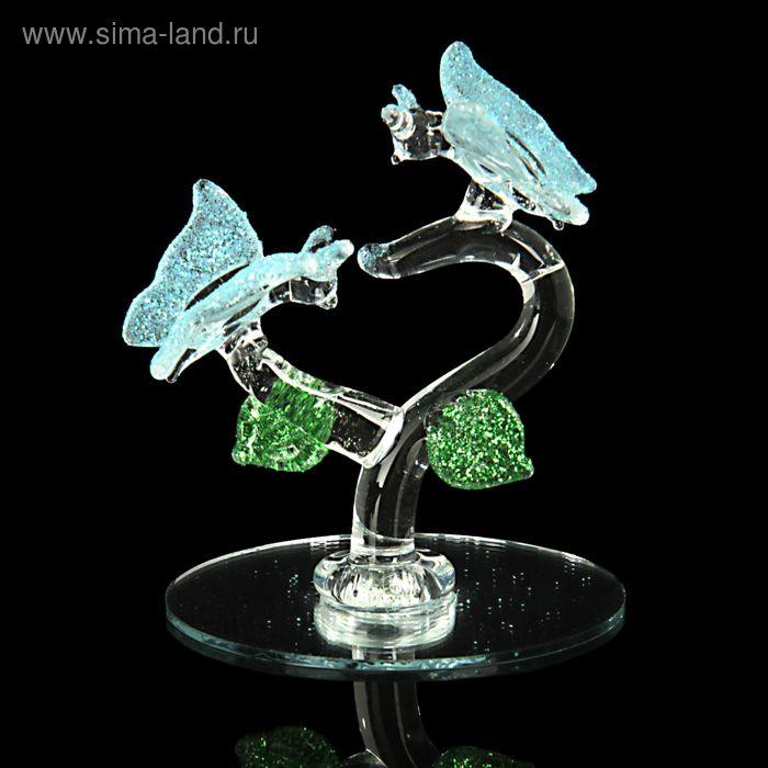 """Сувенир """"2 бабочки"""" на зеркале"""