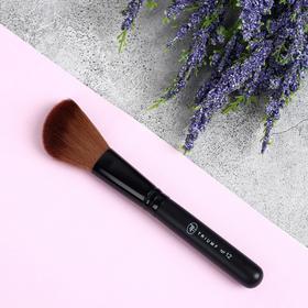 Кисть для макияжа, скошенная, 14 см, цвет чёрный, 70762