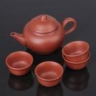 """Набор для чайной церемонии """"Красная глина"""", 5 предметов: чайник 200 мл, 4 чашка 25 мл"""