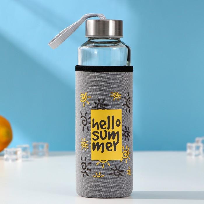 "Бутылка в чехле 400 мл ""Ваниль"", рисунок МИКС"