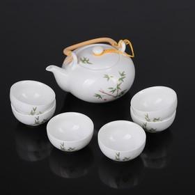 """Набор для чайной церемонии """"Бамбук"""", 7 предметов: чайник 700 мл, чашка 80 мл"""