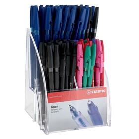 Ручка шариковая STABILO Liner 808, 0,7 мм, дисплей, 6 цветов, стержень микс