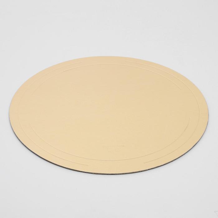 Подложка усиленная 46 см, золото, 2,5 мм - фото 308035454