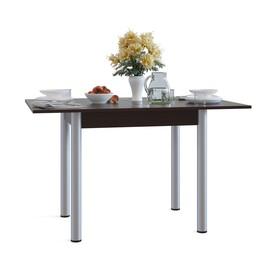 Стол кухонный раскладной, 800(1200) × 600(800) × 770 мм, цвет венге