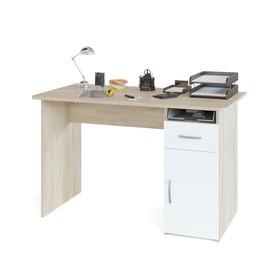 Компьютерный стол, 1200 × 600 × 740 мм, цвет дуб сонома/белый