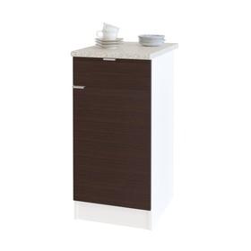 Стол с ящиками, 400 × 600 × 850 мм, цвет белый/венге