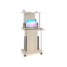 Компьютерный стол, 600 × 600 × 1255 мм, цвет дуб сонома