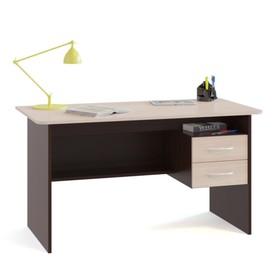 Компьютерный стол, 1200 × 600 × 740 мм, цвет венге/белёный дуб