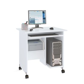 Компьютерный стол, 800 × 600 × 795 мм, цвет белый